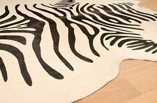 Cowhide Rug Zebra Print Cow Hide Brazilian Area Rugs Hair on Hide 636