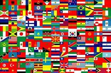 """Discounted Large High Quality Country Flag Banner 3'X5' -Indoor/Outdoor- 36""""X60"""""""