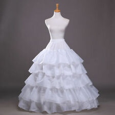 New 4 Hoops Long Cakes Petticoat Crinoline Underskirt Slips Bridal Wedding Dress