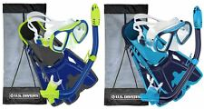 NEW - U.S. Divers Youth Snorkel Set, Purple-Turquoise, or Blue-Yellow