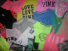 Victorias Secret Pink Lot Angel Bling Black Neon Hoodie Sweats Tee RARE XS S M L