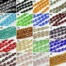 100/200pcs Mixed Color Synthetic Crystal Gemstone Drip Shape Faceted Loose Beads