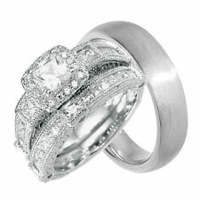 Wedding Ring Set for Him and Her Cheap