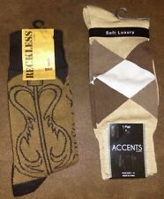 2 Pair Mens Classic Crew Dress Socks 1 Cowboy Boots, 1 Bamboo socks  ISACO