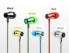 New Braided Stereo In-Ear Earphone Earbuds 3.5mm Jack For Samsung Galaxy S7 iPod