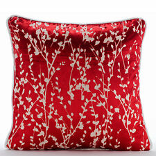 Red Red Willow 55x55 cm Burnout Velvet Cushions Covers Couch - Cayenne Red Drops