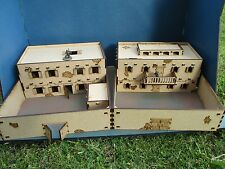 28mm Adobe 2 Storey with Compund Mexican African Desert Scenery Set I & J