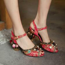 Womens Rhinestone Floral Suede Kitten Bird Cage Heels Sandals Open Toe Shoes New