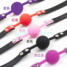 Slave Harness Silicone Ball Gag Bondage roleplay Mouth Restraints game sexy Toy