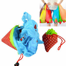 Lot Foldable Strawberry Reusable Carrier Shopping Friendly Grocery Bag Tote Bag