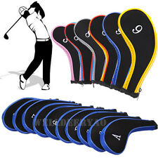 A set of 10Pcs Golf Iron Headcover Golf Club Cover Sleeve Protective Case