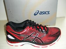 ASICS MENS NIMBUS 19 RUNNING SNEAKERS- SHOES- T700N-9023- BLACK/VERMILION/SILVER