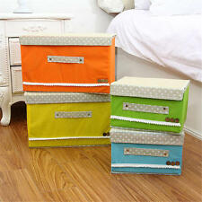 Cloth Toy Fabric Organizer Storage Box Foldable Towel Book Home Decor With Cover