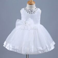 Baby Flower Girl Princess Dress Kids Baby Party Wedding Pageant Birthday Formal