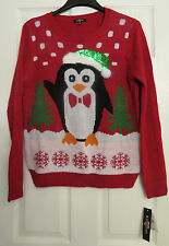 1 UglyChristmas Sweater, Size XL, Ransom Red Penguin