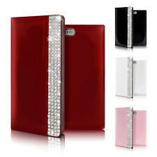 Bling Crystal Glossy Genuine Leather Wallet Case Cover for iPhone 6/6S/Plus/7