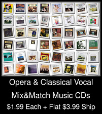 Opera & Classical Vocal(1) - Mix&Match Music CDs @ $1.99/ea + $3.99 flat ship