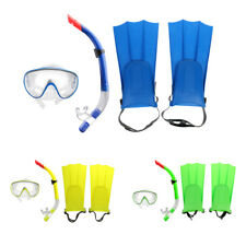 Professional Snorkeling Diving Gear Kit Scuba Mask Fins Flippers Snorkel Set