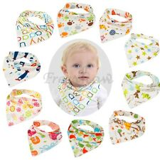 Cartoon 5pcs Baby Kids Cotton Bandana Triangle Bibs Saliva Dribble Towel Scarf