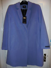 Italian Fabric with Cashmere Wool M&S Ladies Lilac Coat Jacket Size 8 / EUR 36