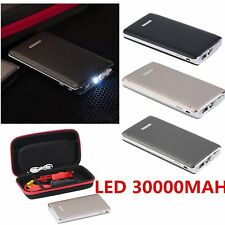 30000mAh Car Jump Starter Battery Charger Power Bank Portable Pack Booster+LED M