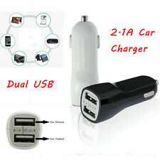 Universal 2.1A  & 1A 2 Port USB 12V Dual Car Charger Socket For Cell Phone Table