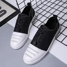 Summer Fashion Lace Up Canvas Loafers Slip Ons Mens Casual Walking Shoes