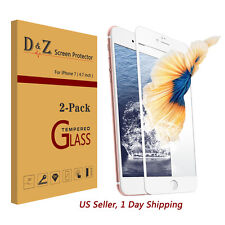 HOT 2Pcs Full Coverage Tempered Glass Film Screen Protector for iPhone 7