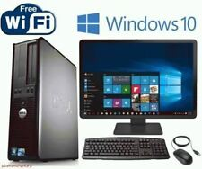 Dell Desktop Computer PC Dual Core WINDOWS 10 19 LCD + KB + MS