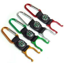 Sport Camping Hiking Water Bottle Buckle Holder Hook with Carabiner Clip Compass