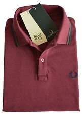 Polo T-shirt Maglia Uomo Men Fred Perry Made Italy 30102201 granata