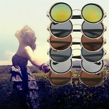 Steampunk Sunglasses Round Glasses Cyber Goggles Vintage Retro Style Blinder LN