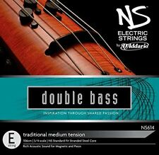 D'Addario NS Electric Traditional Bass Single E String, 3/4 Scale Medium Tension
