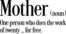 MOTHER  definition vinyl wall saying sticker words home decor decal humour