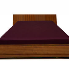 """1000TC Egyptian Cotton UpTo 30""""Inch Deep Pocket Fitted Sheet All Size Wine Solid"""