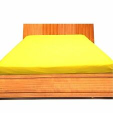 """1000TC Egyptian Cotton UpTo 30""""Deep Pocket Fitted Sheet All Size Yellow Solid"""