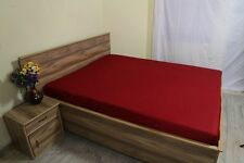 """1000TC Egyptian Cotton UpTo 30""""Deep Pocket Fitted Sheet All Size Burgundy Stripe"""