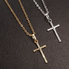 New Cross Pendant Fashion Jewelry 18K Gold Filled Charms Rings Necklace