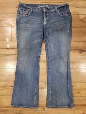 Women's 16 American Eagle jeans, Favorite boyfriend, embroidered pockets, nice