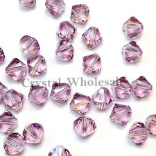 6mm Light Amethyst Genuine Swarovski crystal 5328 / 5301 Loose Bicone Beads