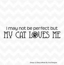 My Cat Loves Me vinyl wall or window sticker paws car home removeable DIY decal
