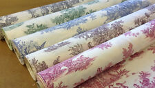 Rustic French Toile de Jouy 100% Cotton Upholstery Curtain Shabby Chic Fabric