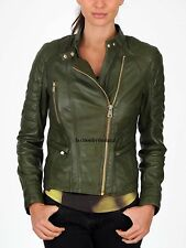 New Womens Genuine Leather Jacket Real Lamb Skin Leather High Quality WJ!!00111