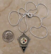 """PITTSBURGH STEELERS necklace - 16"""" sterling silver chain SJ940-25"""