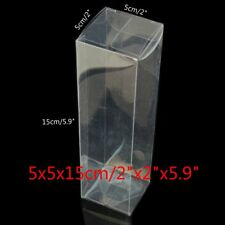 """New Clear Plastic PVC Boxes Party Favor Wedding Tuck Top Display Box 2""""x2""""x5.9"""""""