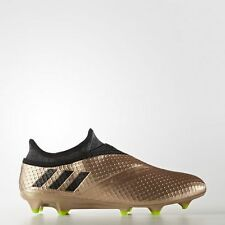 ADIDAS MEN'S SOCCER MESSI 16+ PUREAGILITY FIRM GROUND CLEATS BA9821 COPPER/BLACK