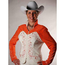 6105 Ladies Coral and Natural Western Horse Show Jacket from 1849 Ranchwear NEW