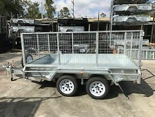 Galvanised 10x6 Heavy Duty Tandem Wheel Trailer  - 900mm Galvanized Cage