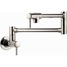 hansgrohe 04218830 Talis C Wall-Mounted Pot Filler 2.5 GPM Polished Nickel