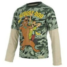 SCOOBY DOO:2013 LONG SLEEVE TOP,KHAKI/CREAM,2/3,5/6YR,NEW WITH TAGS